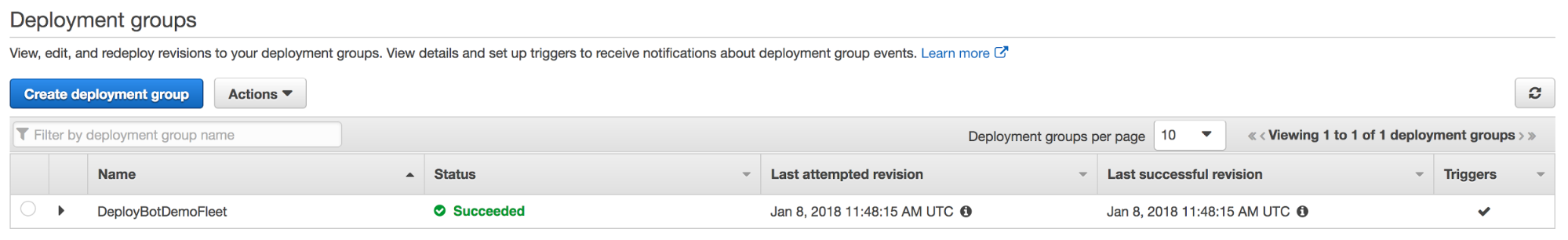 deploy success