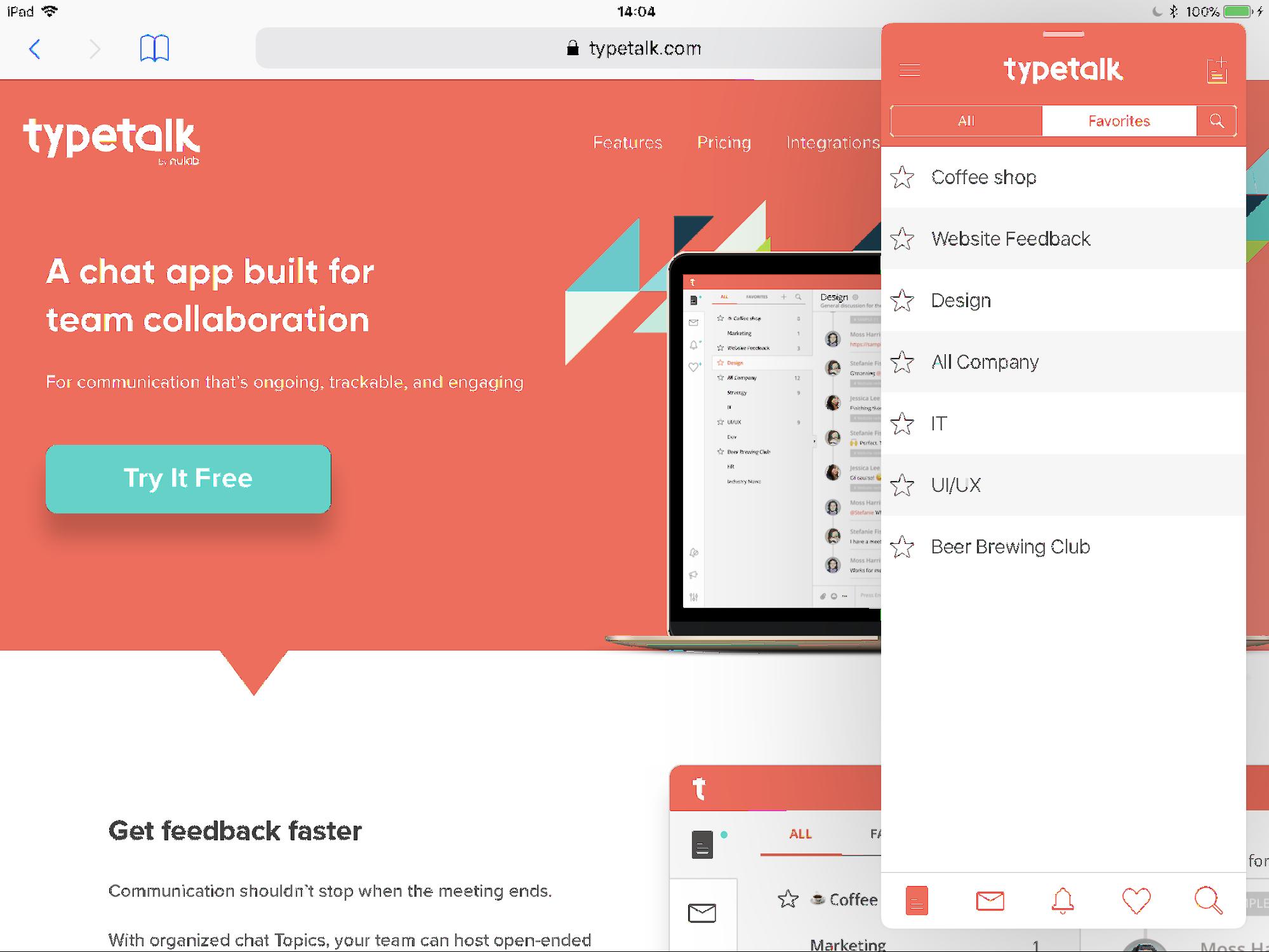 Multitasking on iPad with Typetalk