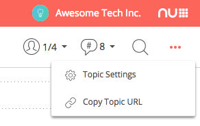 Typetalk Topic Settings