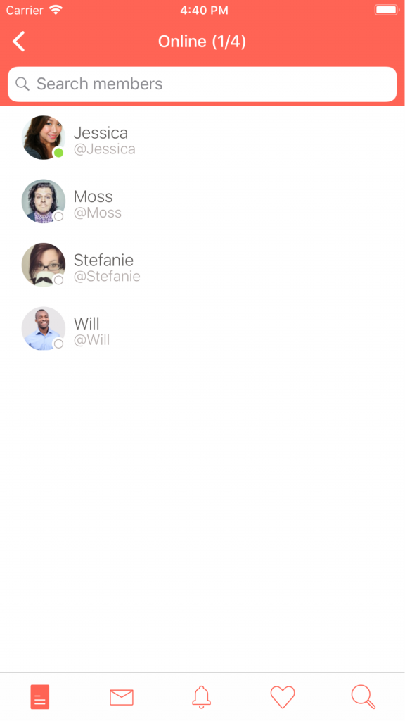 View topic members on Typetalk for iOS