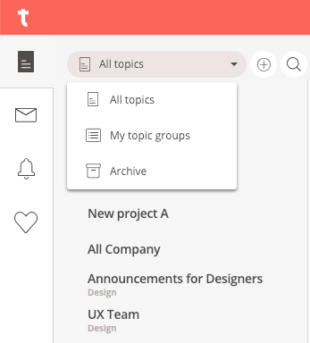 Archive menu on topic list