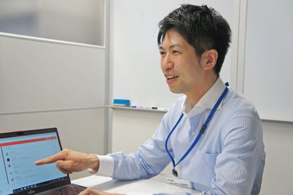 Program IC Hiura interviewed about Typetalk