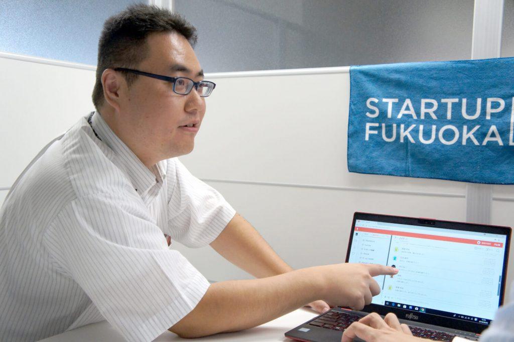 Program Chief Inokuchi being interviewed